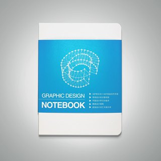 CMYK graphic design notebook blue |