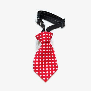 Ella Wang Design Tie pet cats and dogs bow tie tie red Shuiyu point