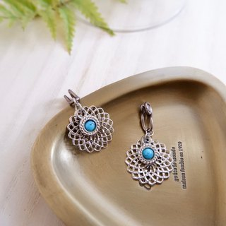 Ethnic style ear clip earrings