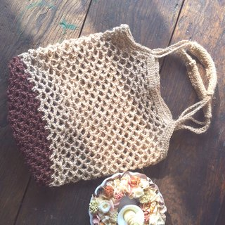 Timing time than cruel linen woven bag