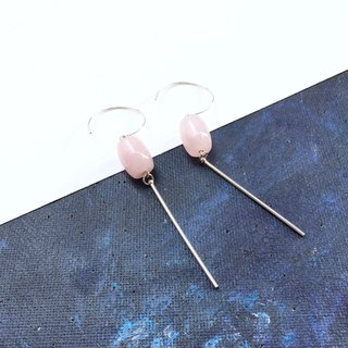 【Small Lucky】 925 Silver Crystal lucky beads earrings simple atmosphere graduation gift