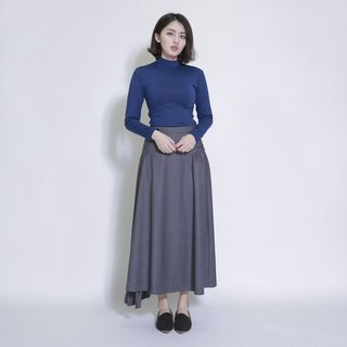 Tiering layered wrinkled long skirt _7AF151_ gray