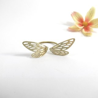 Dragonfly wings ring by WABY SHOP