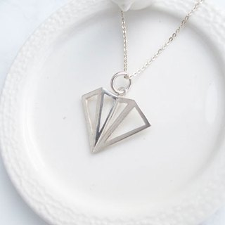 Big staff Taipa [handmade silver] three-dimensional large paper plane sterling silver necklace
