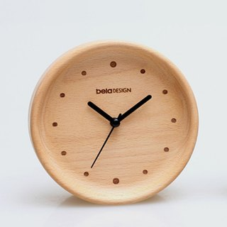 Beladesign. Floating wood edge little small table clock