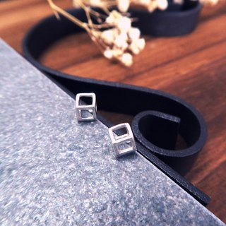 Earrings minimalist back box 925 sterling silver earrings