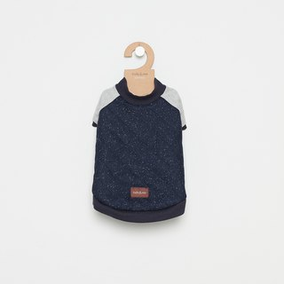 [Tail and me] pet clothes baseball jacket dark blue