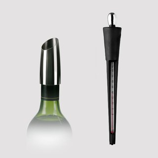 Goody Bag - Stainless steel pourer + wine thermometer
