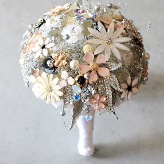 Bouquet jewelry [full] jewelry and handmade crystal crystal flower drape paragraph