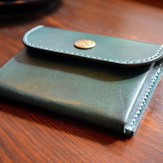 Leather cowhide vegetable skin hand made coin purse snap-on coin pocket gift size color custom