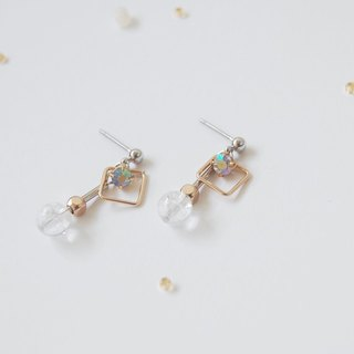 Rock Quartz Crystal Gemstone Earrings