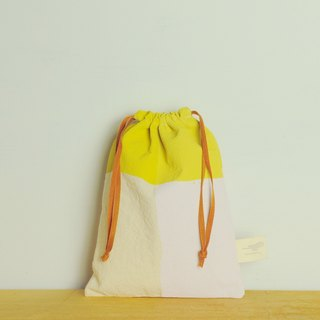 Golden hoop bag bundle bag / waterproof paint yellow purple #18