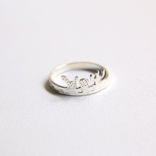 Ni.kou sterling silver fleshy small planting ring