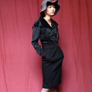 Pumpkin Vintage. Ancient black high waist dress