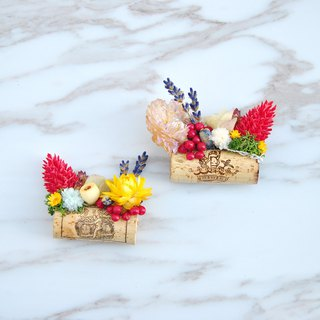 Dry flower magnet - creative cork horizontal style - harvest feast
