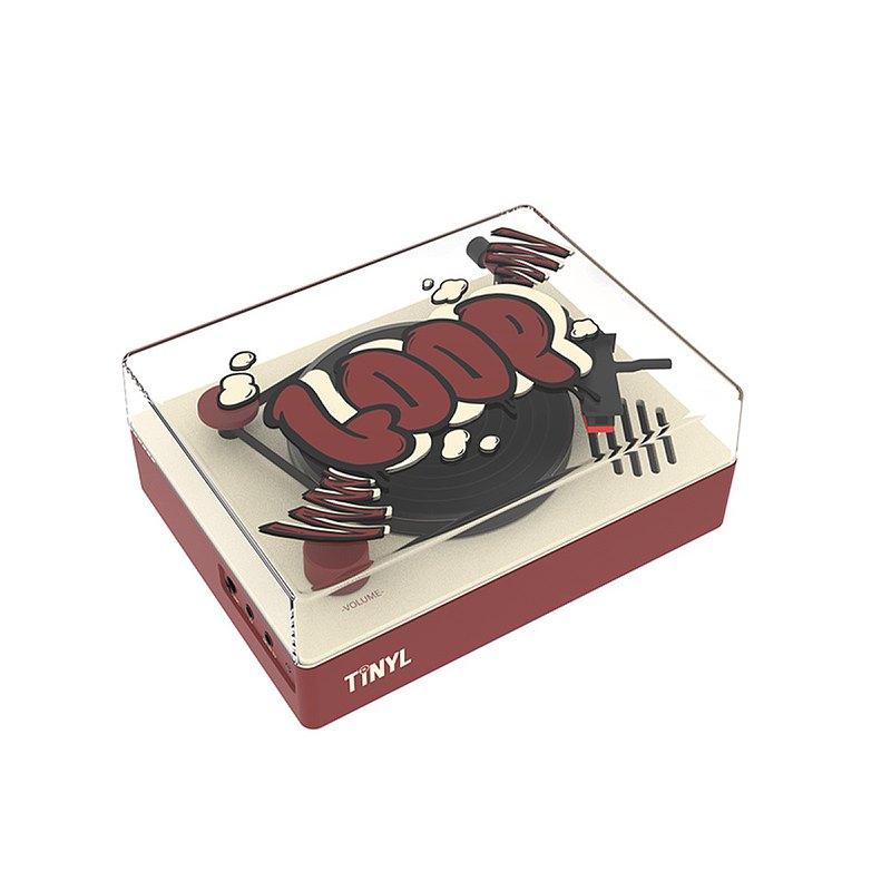 TINYL原創 LOOP款經典款3吋藍牙黑膠唱機 潮流玩具