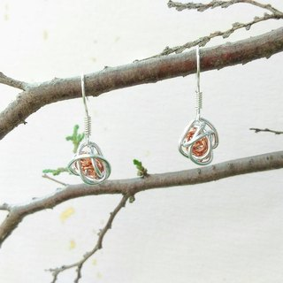 Handmade (Two Color) Copper Wire Wrapped Earrings