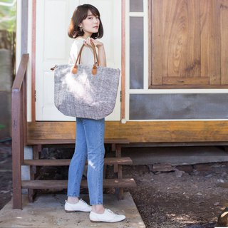 Oversize Sweet Journey Bags Botanical Dyed Cotton Natural-Brown Color