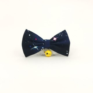Cosmic star cat mini dog small dog bow decorative collar