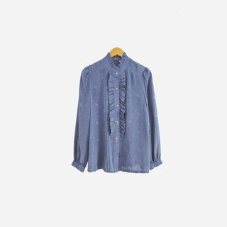 Dislocation vintage / lotus leaf collar long sleeve shirt no.611 vintage