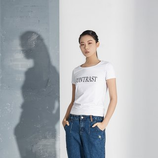 "【In stock】""CONTRAST"" T-shirt"