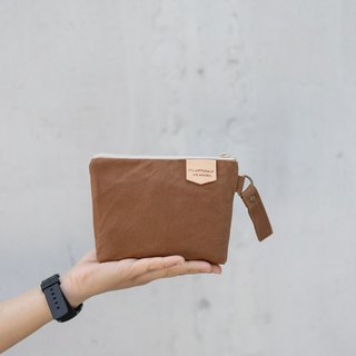 Wax and wax universal tea Brown Universal bag purse HDD Pack Waterproof HDD Pack Paraffin canvas bag