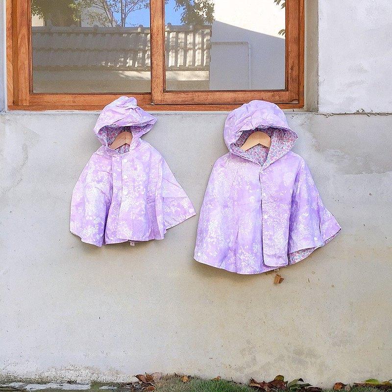 伊藤尚美 紫 披風 雙面斗篷