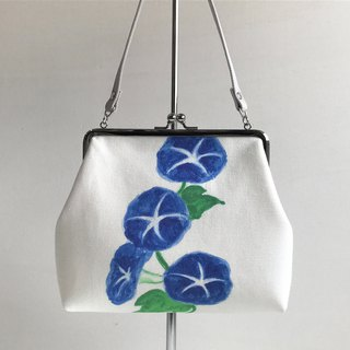 Japon Flower Gusseted Pouch Bag Morning Glory