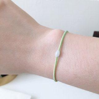 Phosphorus leaf emerald transfer beads candy color wax line bracelet girlfriends sister blessing gift popularity