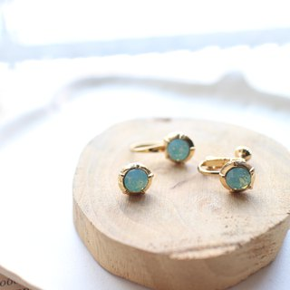 Mint-Brass earrings