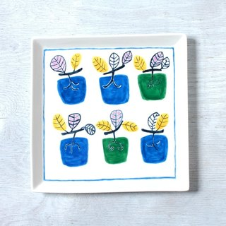 Blue persimmon square plate outlet