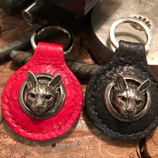 Cat head travel card key ring