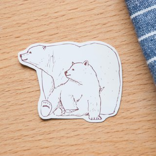 [Animal series # 10 monochrome polar bear coloring sticker pack 5
