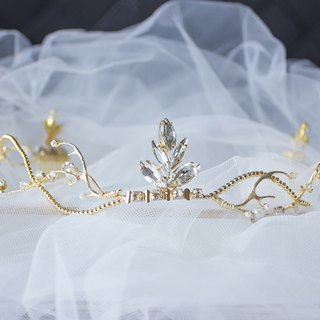 Small Crown / Hand Ornament Bride Hair Ornament