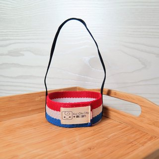 Korea wide-format webbing (red, white and blue) / Wen Qingfeng environmentally friendly beverage cup sets. Lifting. New measures for plastic limit policy