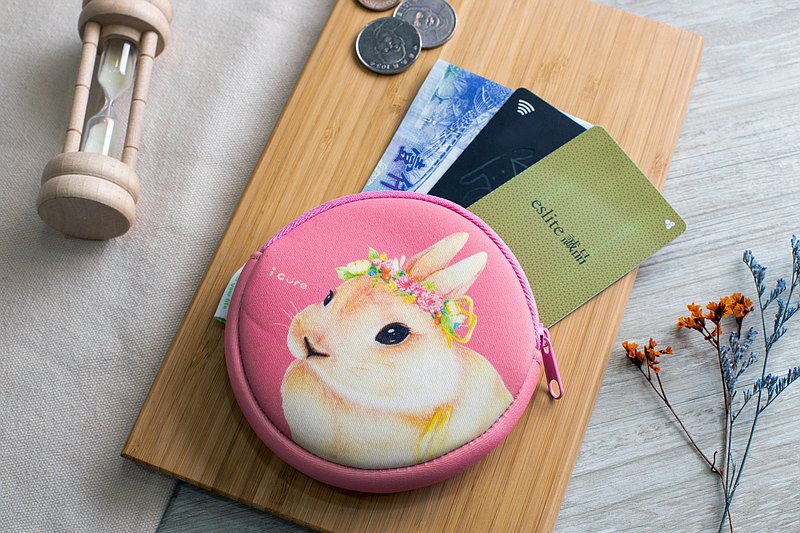 零錢包- 田園兔子 H12 /防潑水/可放卡片