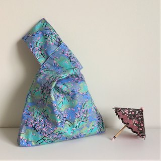 Knot Bag (Double-sided: Turquoise plum blossom x Light purple)