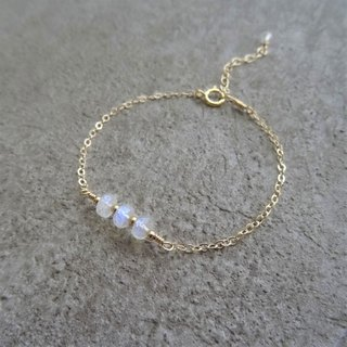 ::Daily Jewels:: Rainbow Moonstone Faceted Rondelles 14K GF Layering Bracelet