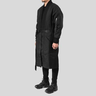 [IONISM] Kimono long version flight jacket black