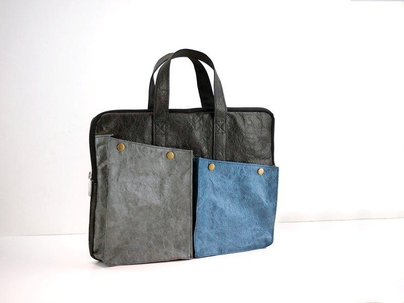 6DOTS 黑灰藍 超輕量 防水 Tyvek 公事包  醫生包 公文包
