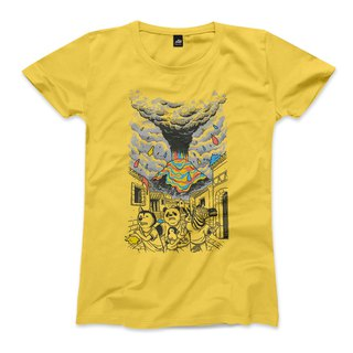 Escape color storm - yellow - women's t-shirt