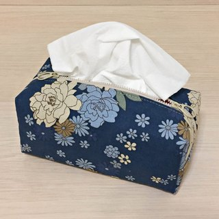 (Dual Purpose) Love Blue Flowers_tissue cover/ zipper bag