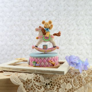 Bear song horse music box birthday gift home furnishings beauty gift