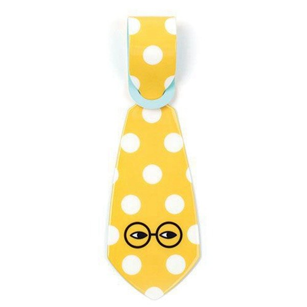 Elf tie luggage tag 02.Lenzi-dots
