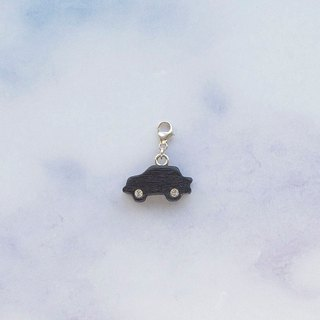 Car wooden charm  (can choose gold / silver plated Lobster clasp)