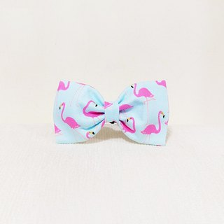 Ella Wang Design Bowtie Pet Bow Tie Bow and Crane Blue-Red Crane