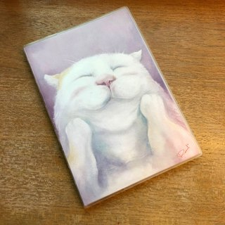 White bubble cat blank notebook christmas gift