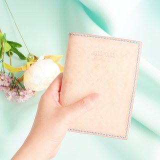 Make Your Choicesss Italian minimalist cherry pink leather passport cover