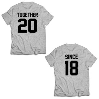 custom couple together since gray t shirt