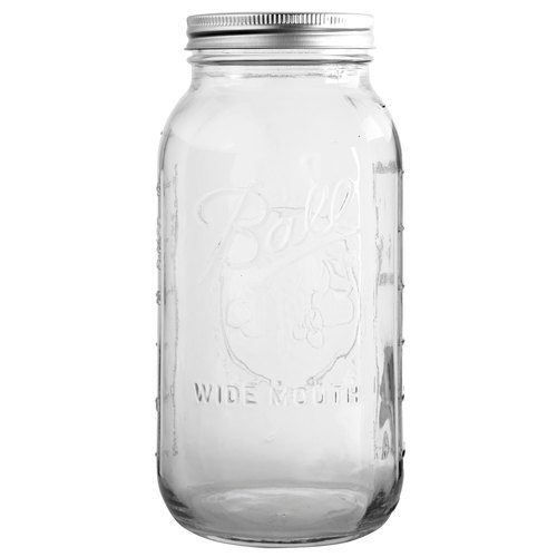 US imports of glass sealed Mason jar _64oz wide mouth cans